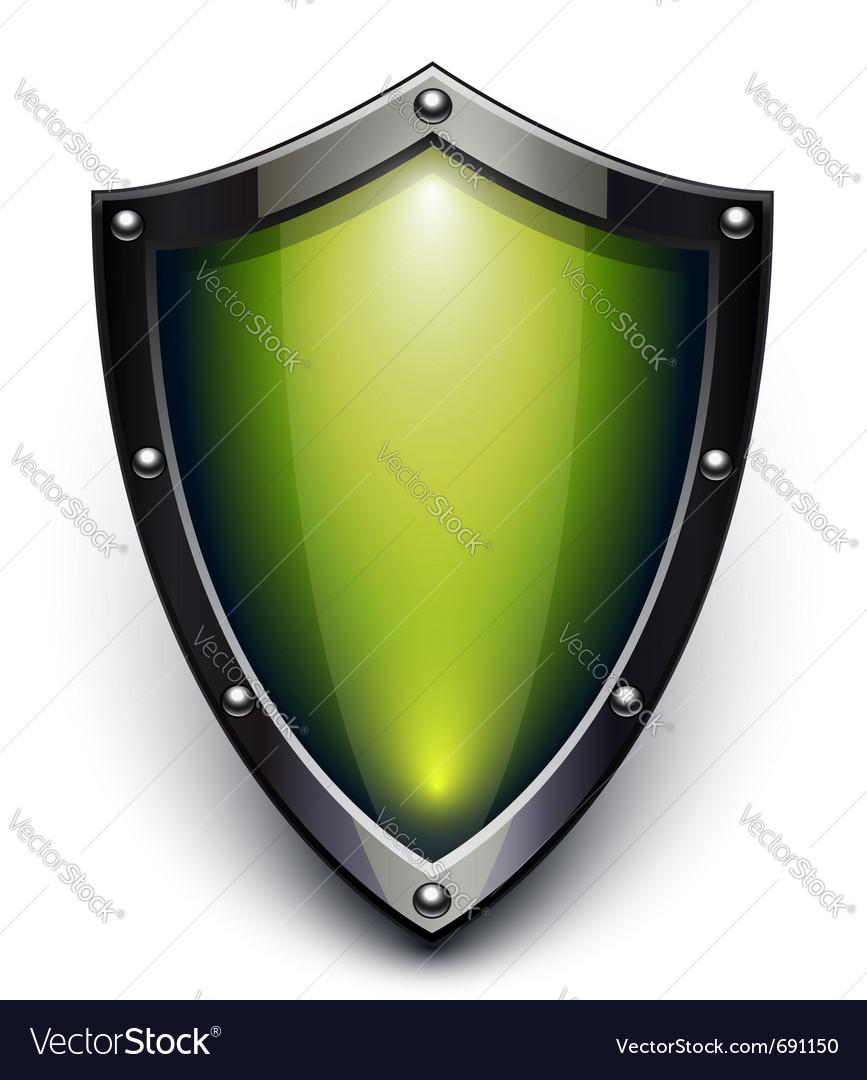Green security shield vector