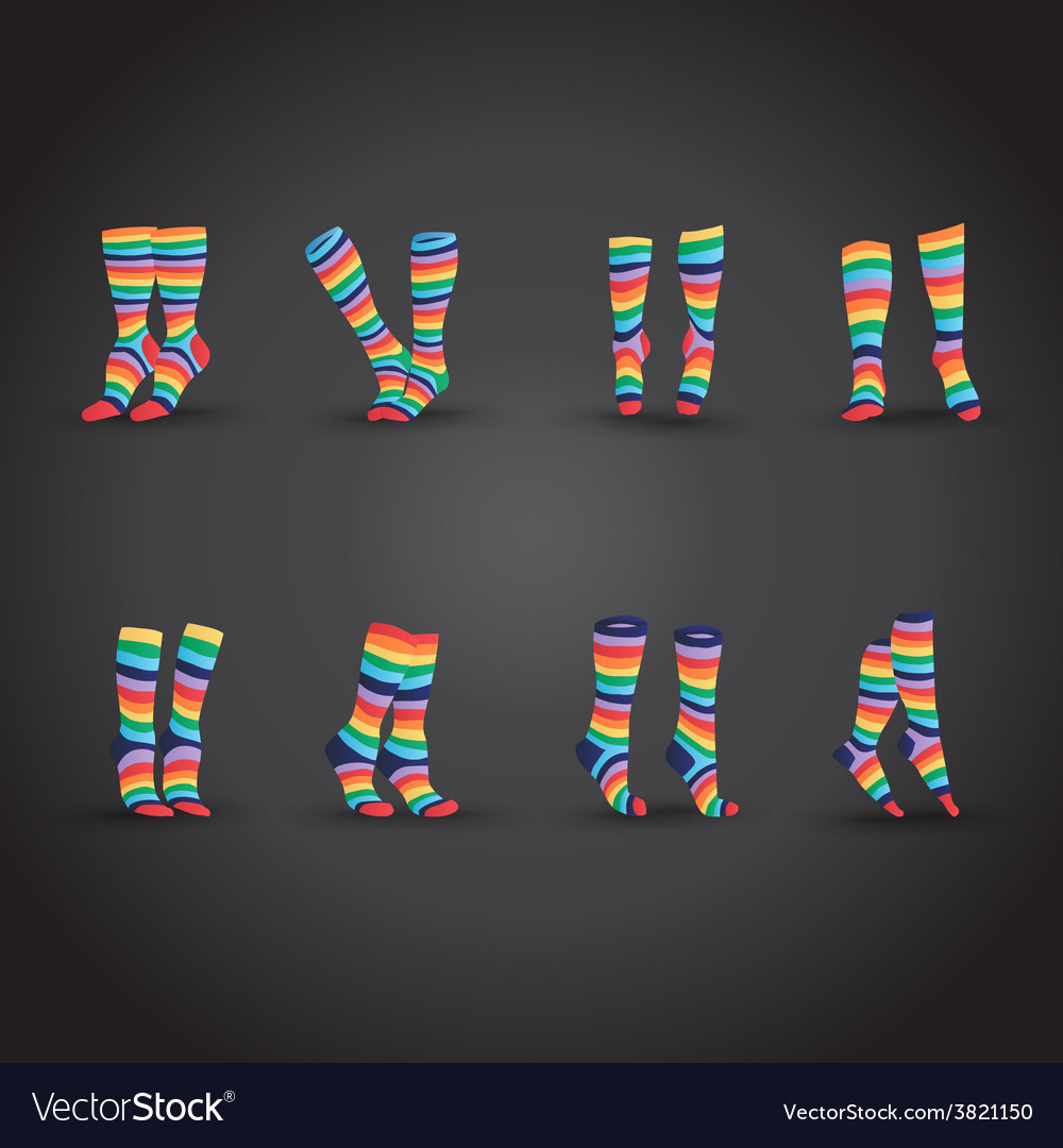 Set of socks vector