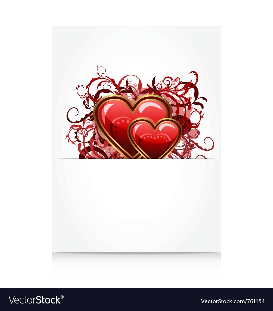 Romantic letter vector