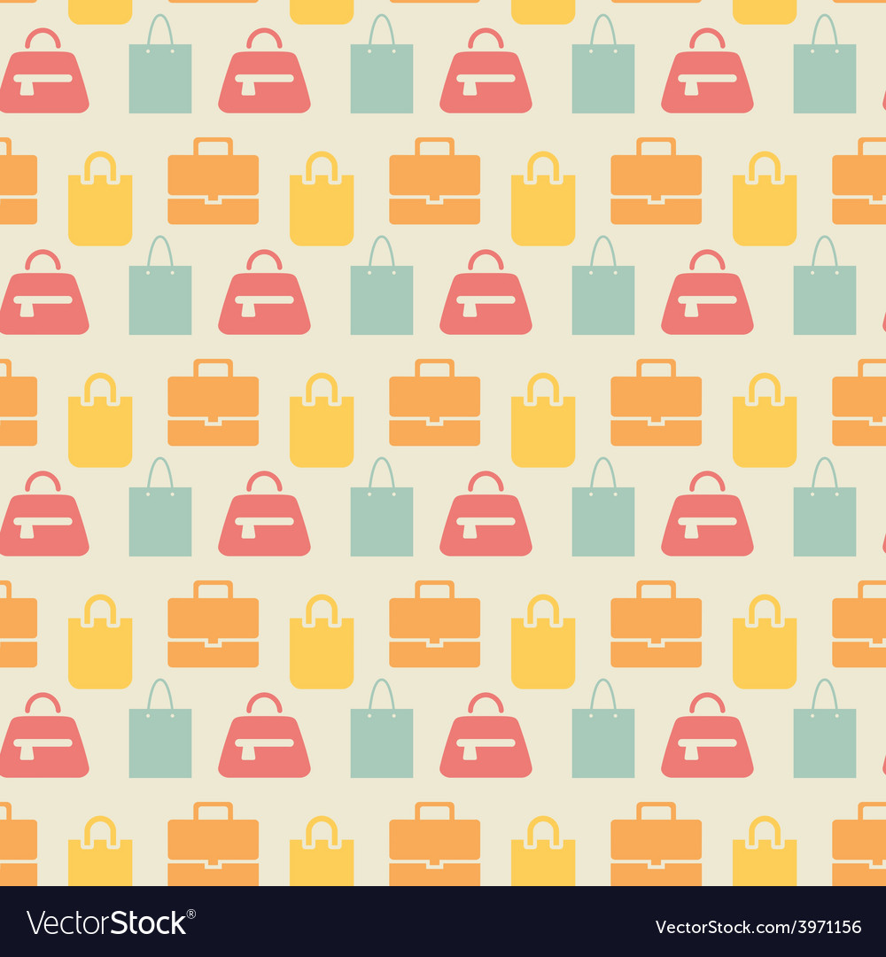 Sale background with shopping bags pattern vector