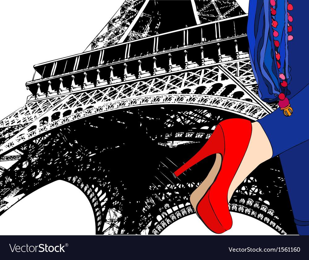 Fashion in paris vector