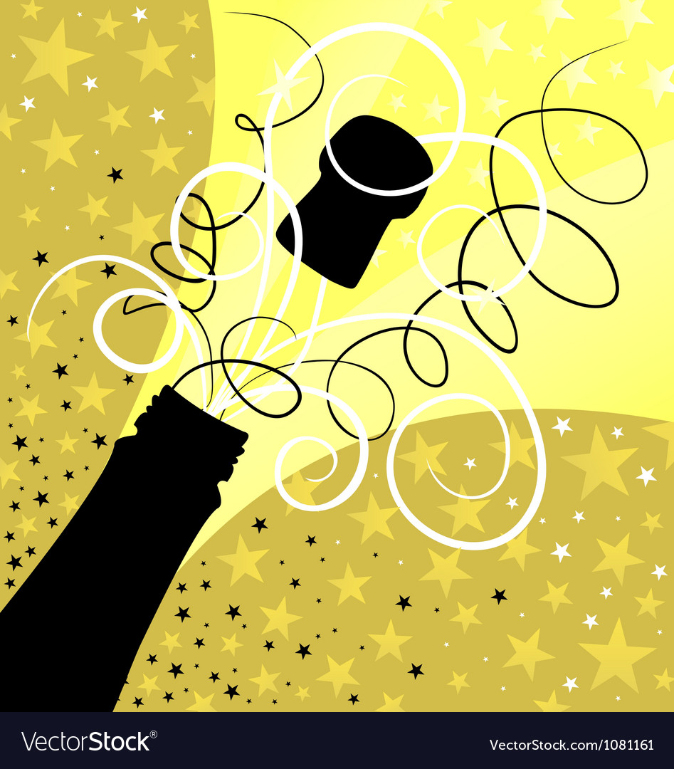 Holiday sparks of a champagne vector