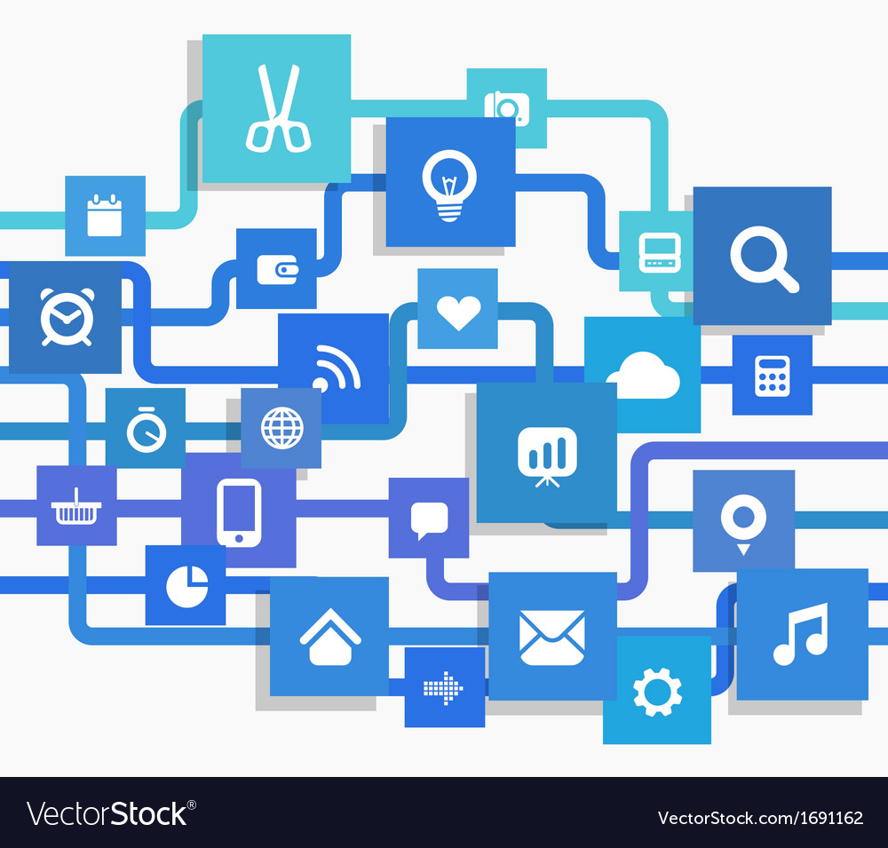 Modern media information abstract scheme vector