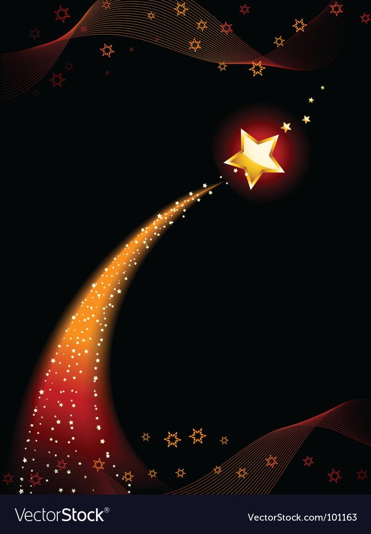 Shooting star vector