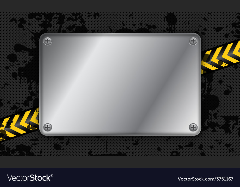 Abstract grunge metallic background vector