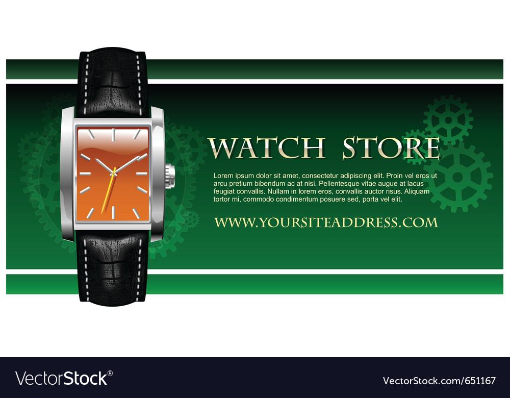 Classic analog mens wrist watch vector