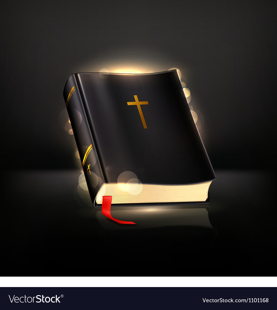 Bible on black vector