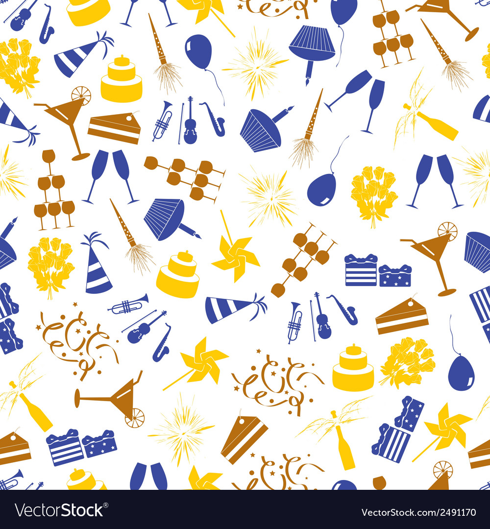 Celebration and party color pattern eps10 vector