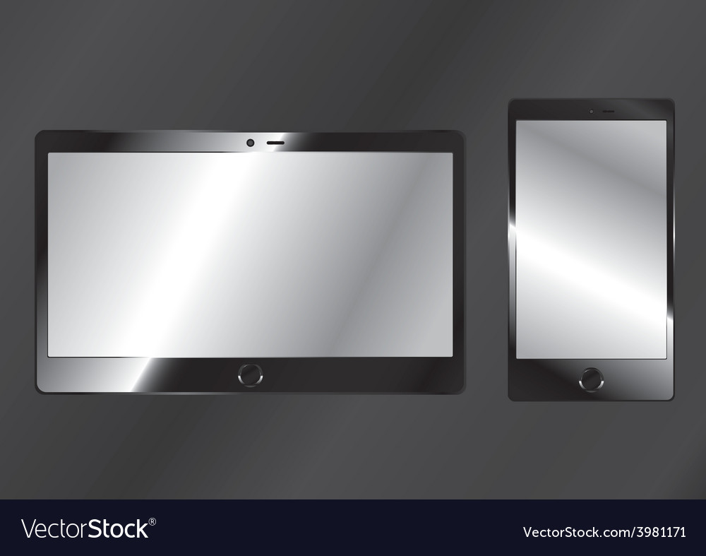 Cell phone and tablet vector