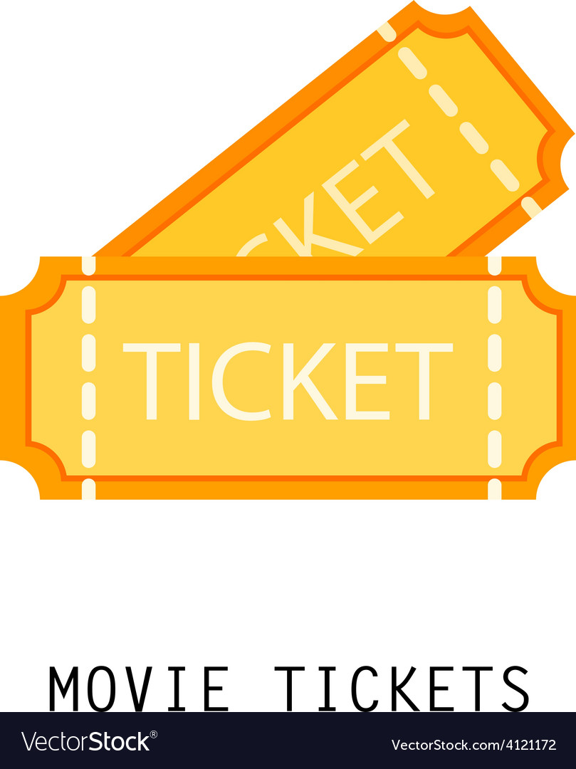 Gold ticket vector