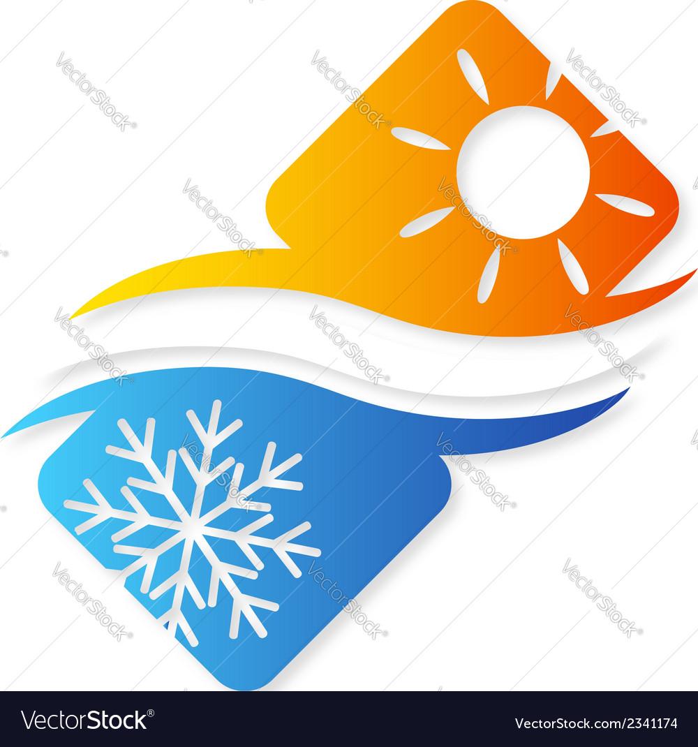 Air conditioner the design vector