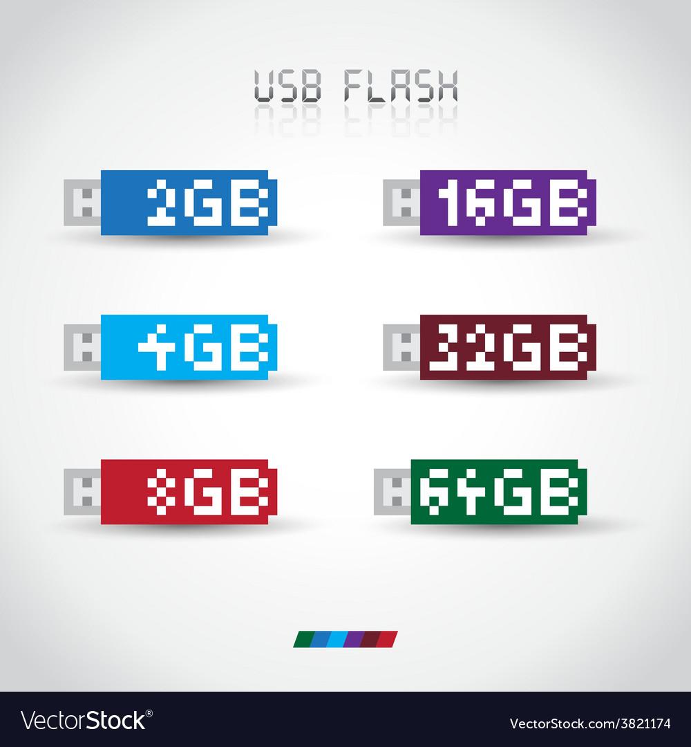 Usb flash disk vector
