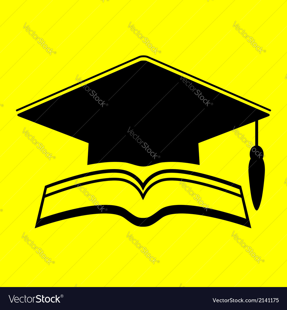 Icon graduate cap vector