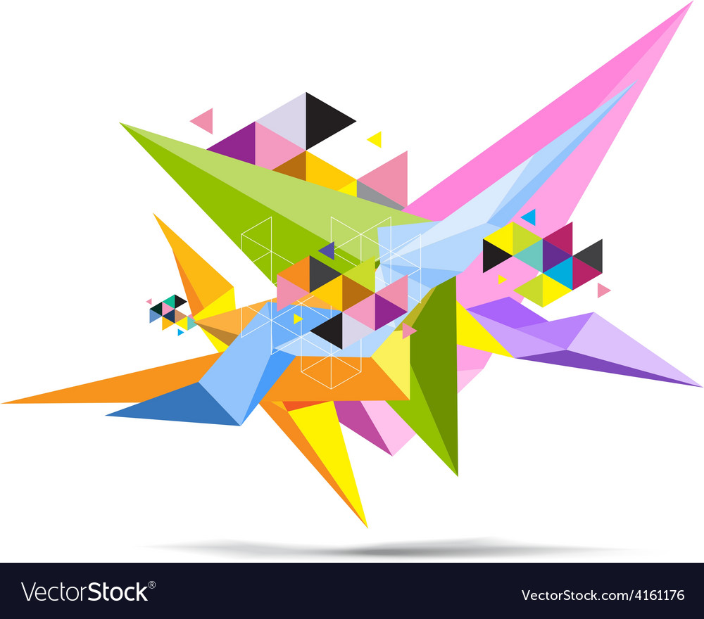 Abstract science polygon object vector
