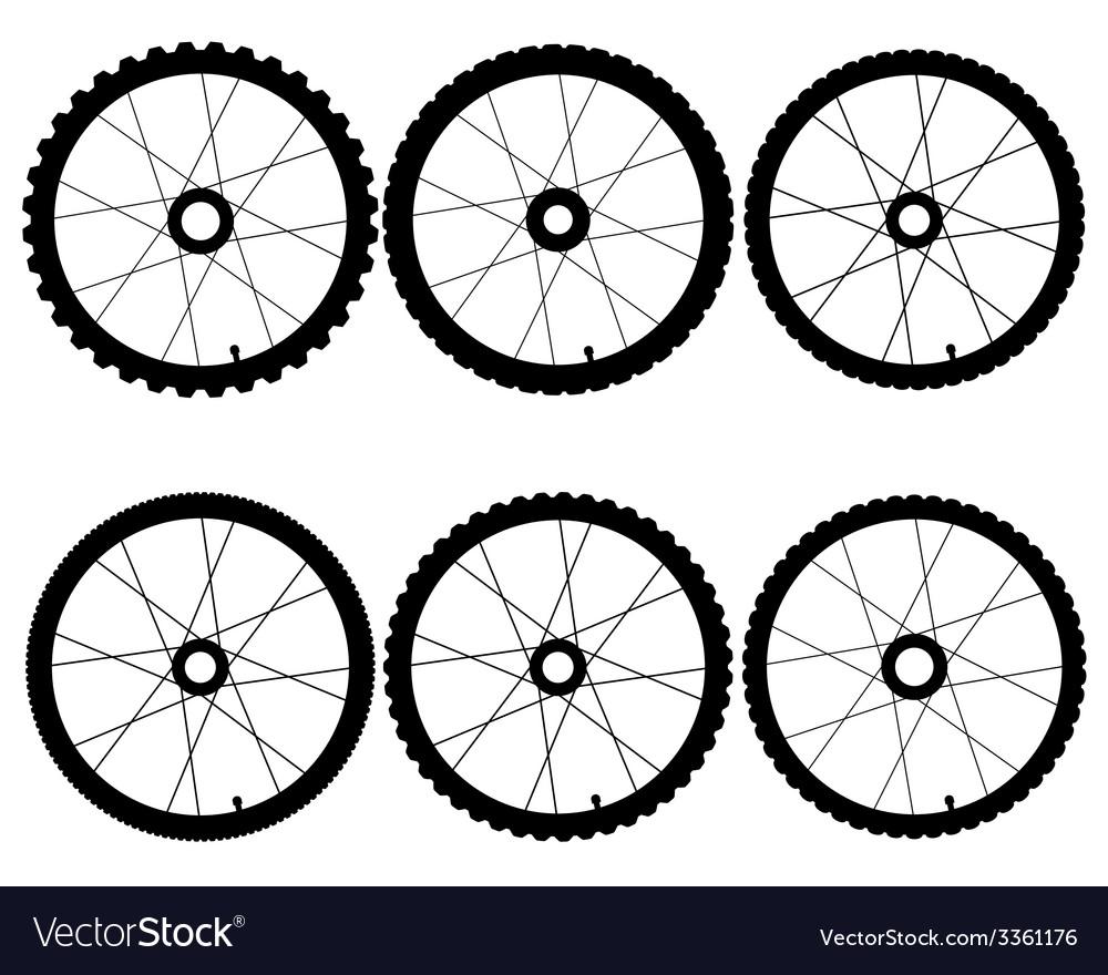 Bicycle wheels vector