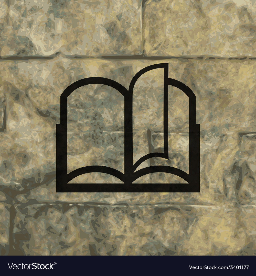 Open book icon symbol flat modern web design with vector