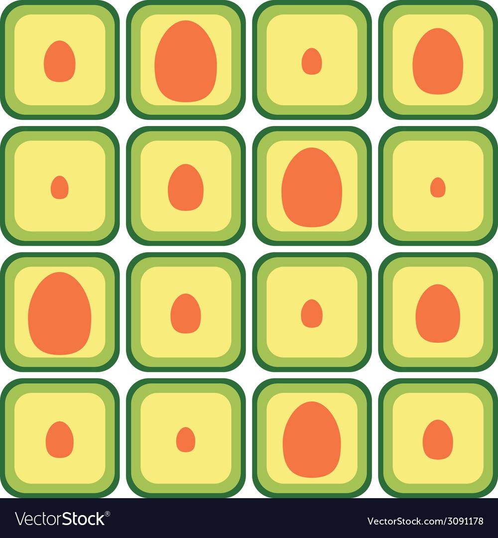 Seamless avocado pattern vector