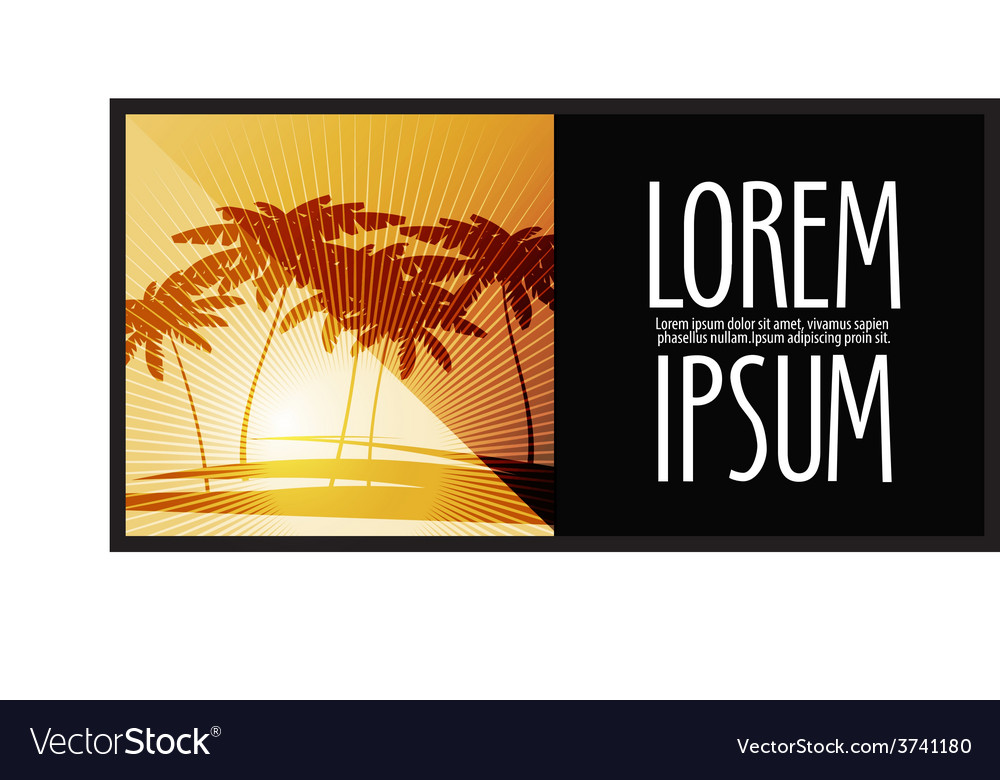 Nature logo design template travel or palm trees vector