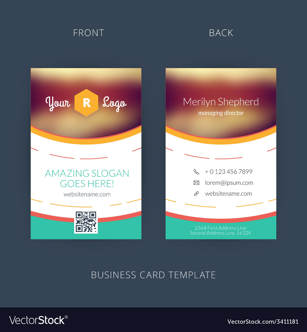 Modern creative business card template flat design vector