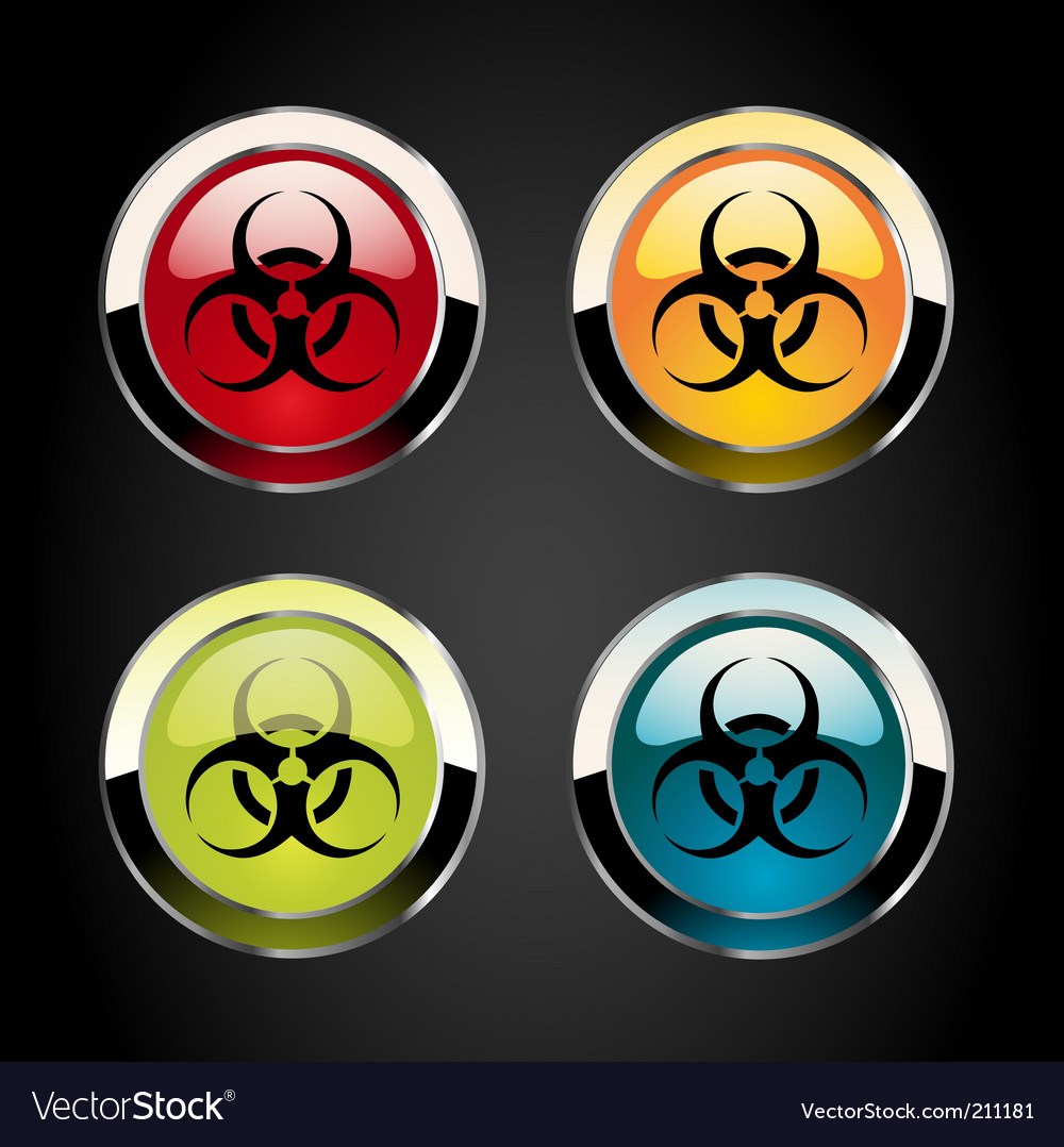 Toxic icons vector