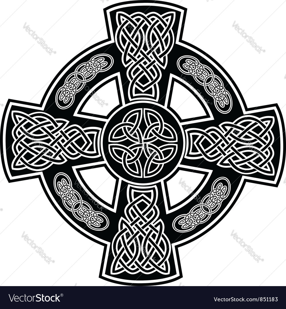 Celtic cross 2 vector