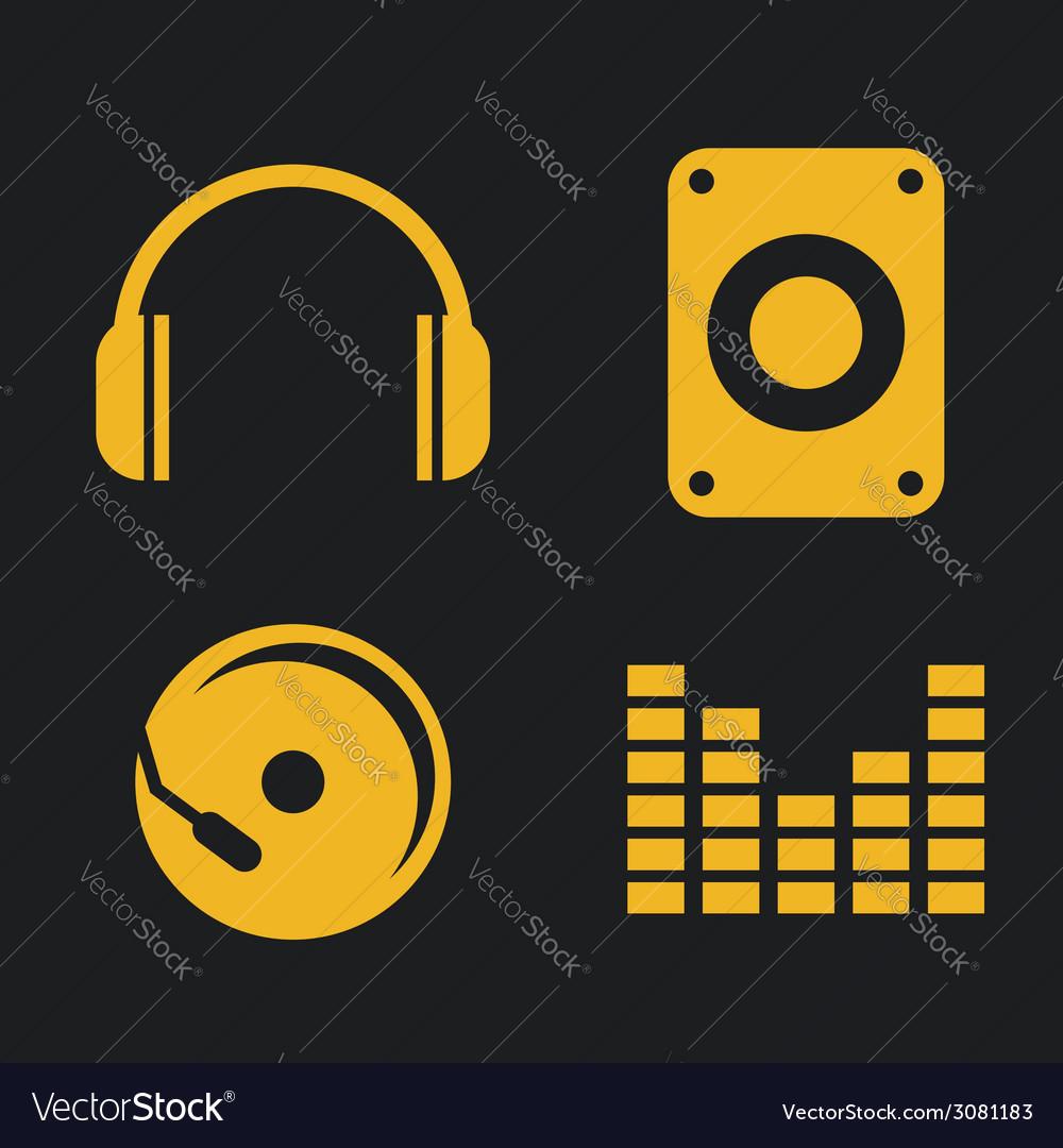 Music sound design vector