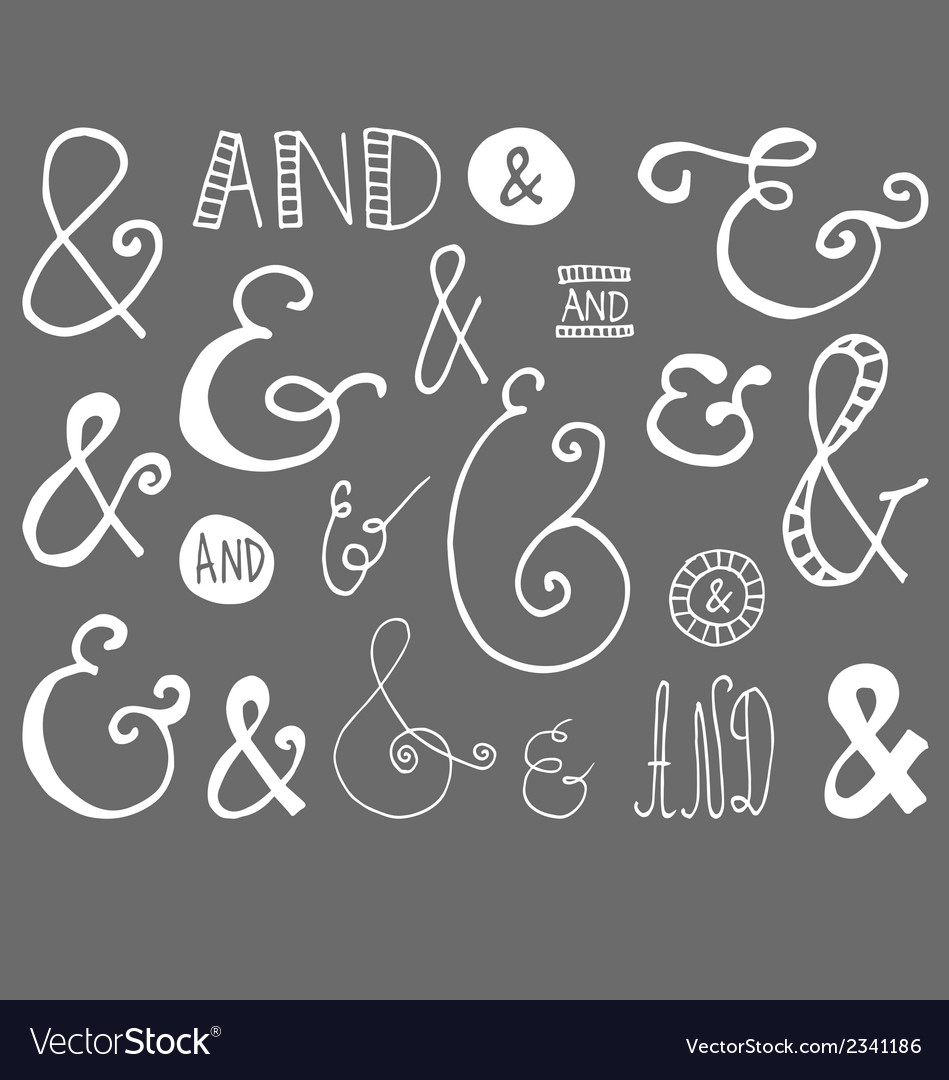 Ampersand-hand-drawn-doodle-vector