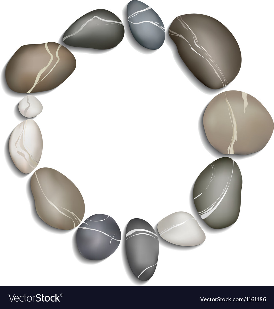 Circle of twelve pebbles vector