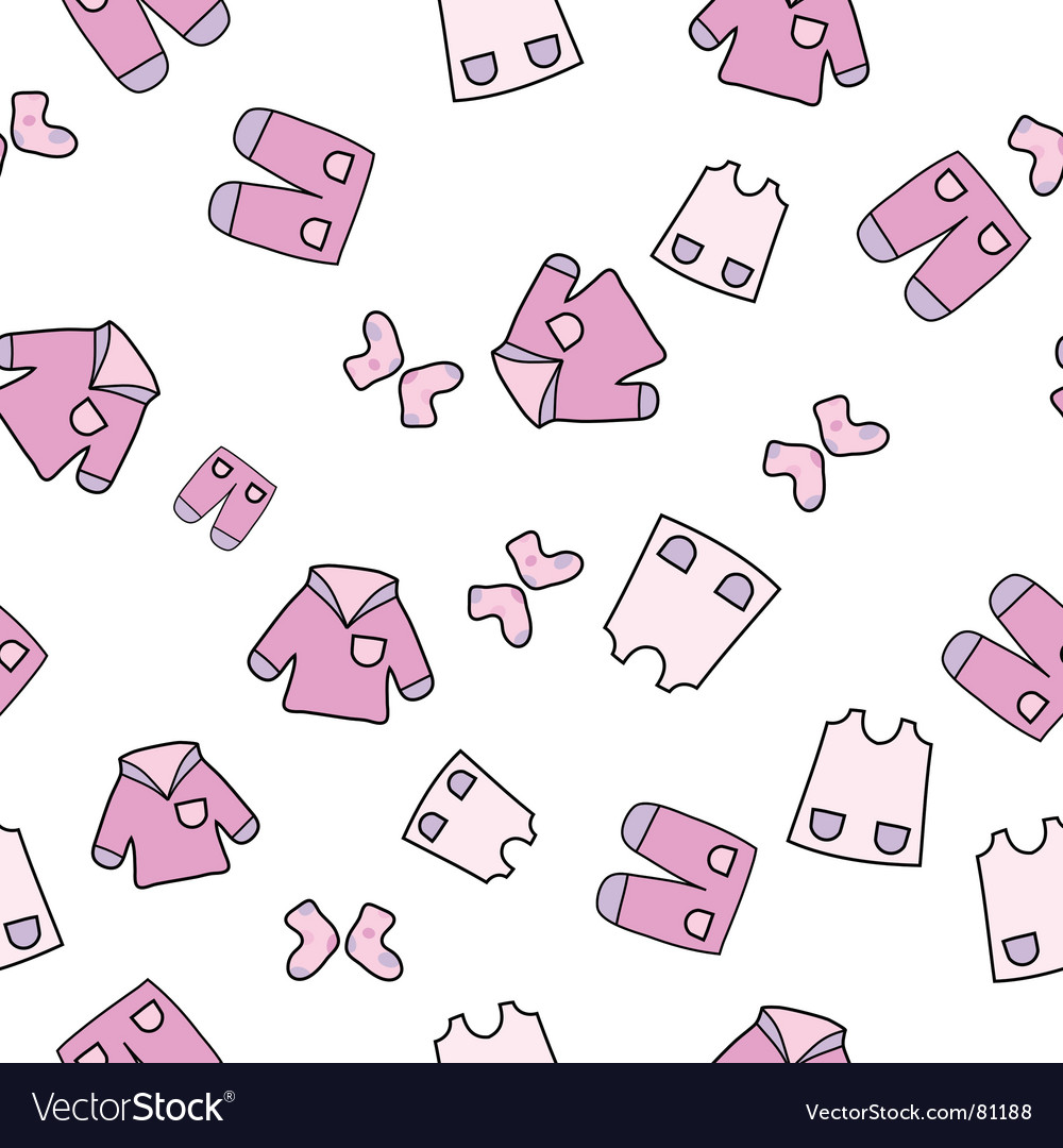 Baby wear background vector