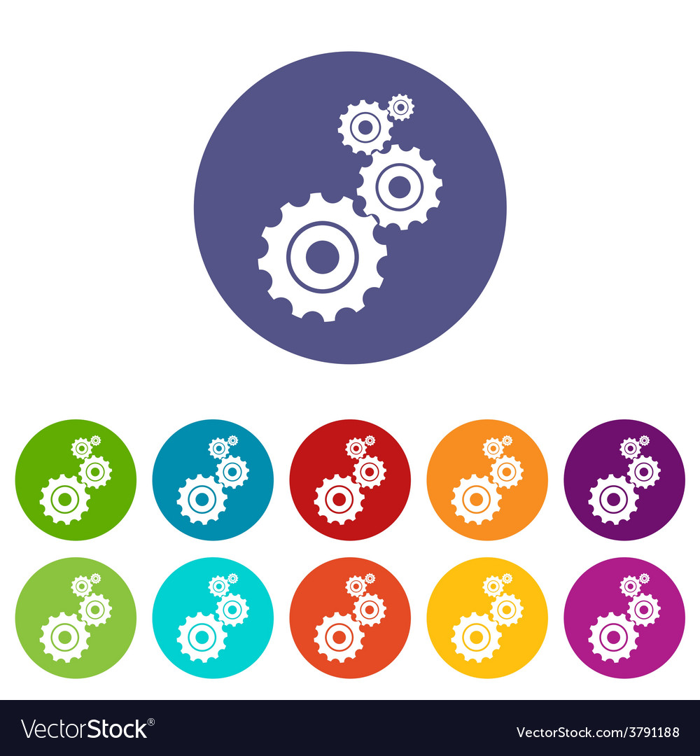 Mechanism flat icon vector