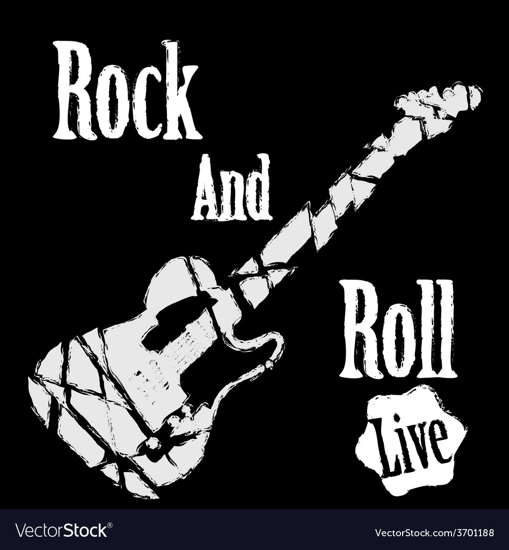 Rock guitar poster vector