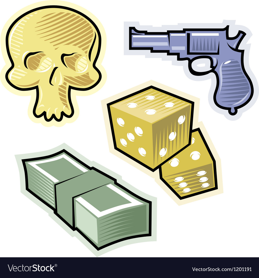 Objects for crime and danger vector