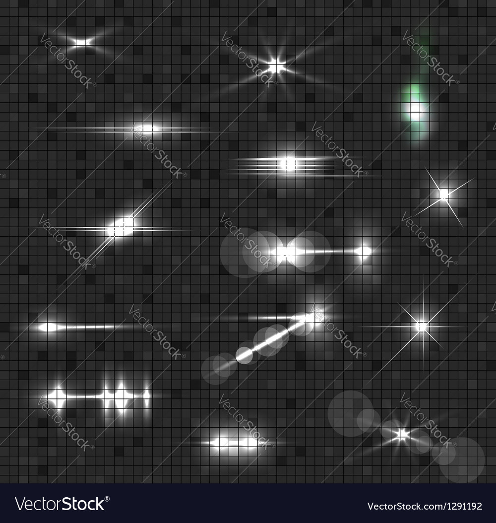 Glowing light collection vector
