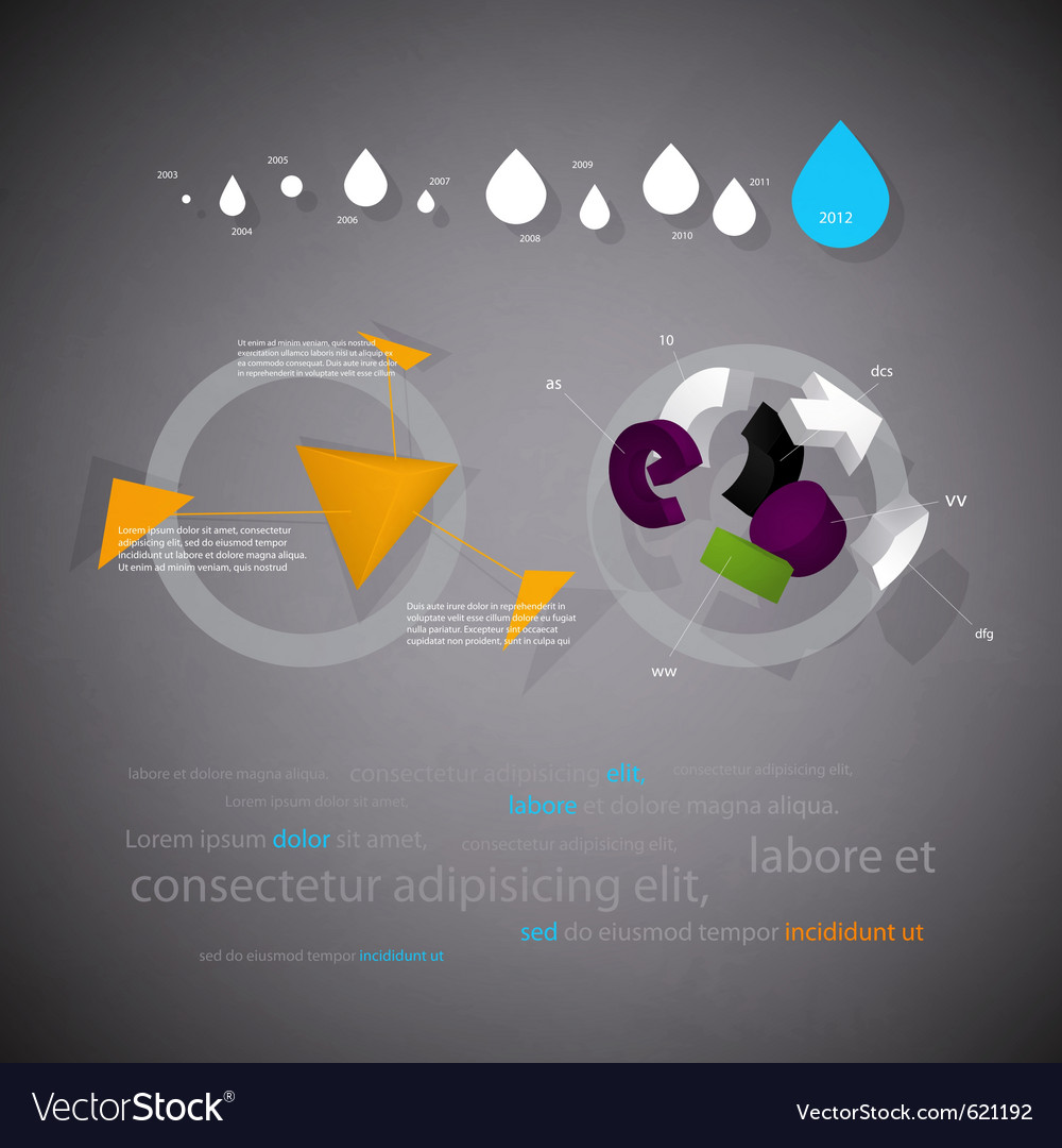 Infographics statistical three-dimensional report vector