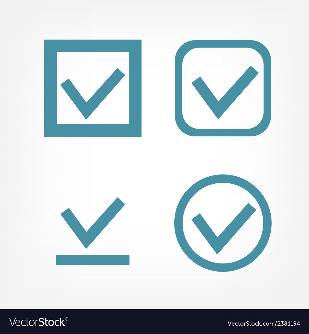 Check mark flat icons vector