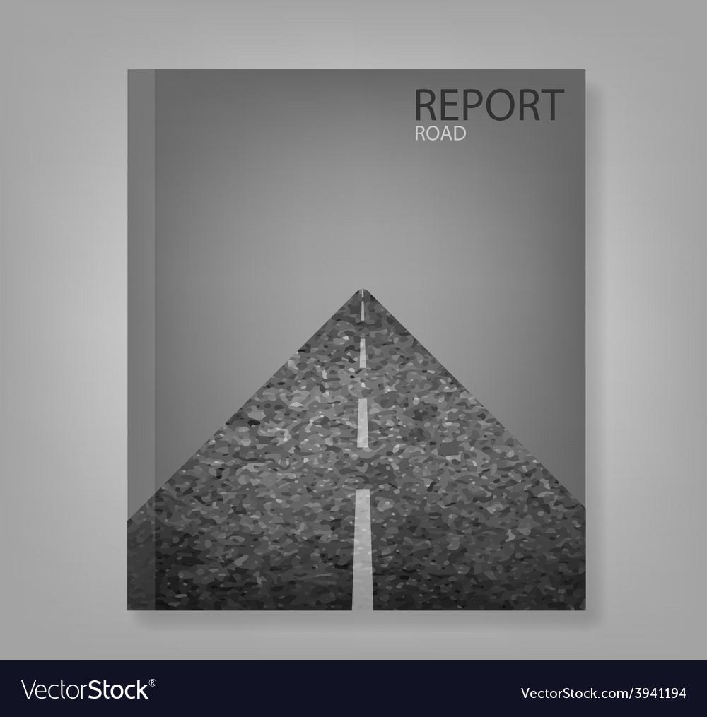 Report road blank vector