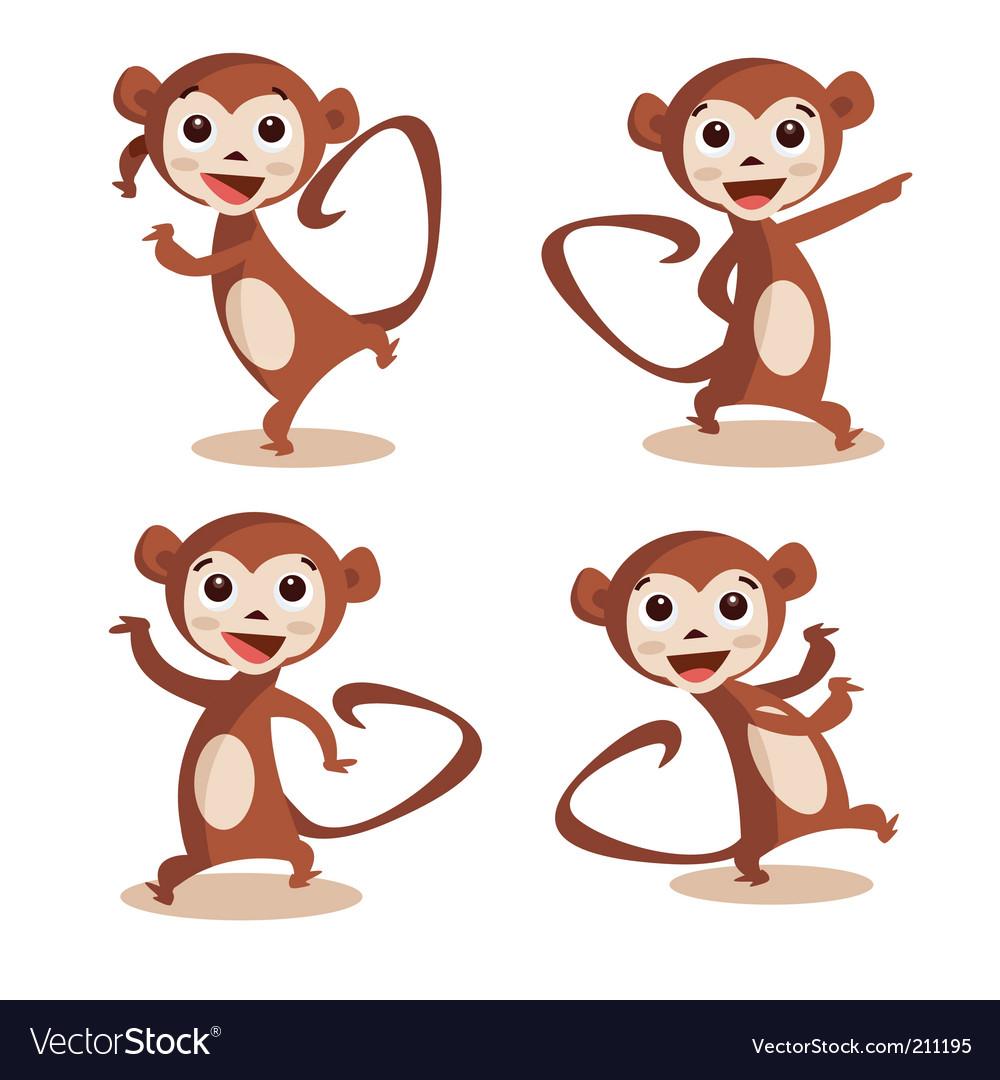 Dancing monkey vector