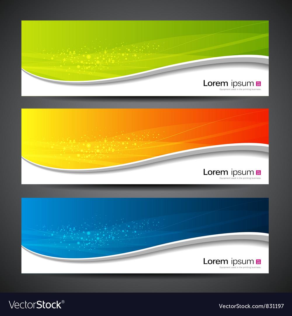 Banner modern wave design vector