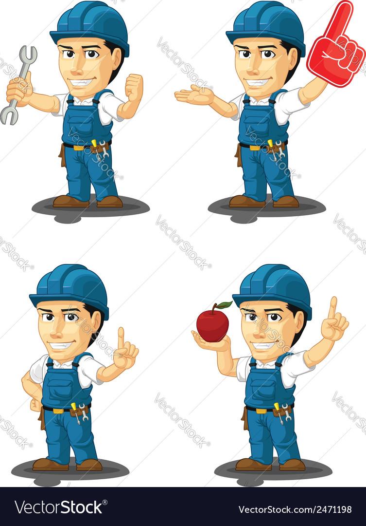 Technician or repairman mascot 10 vector