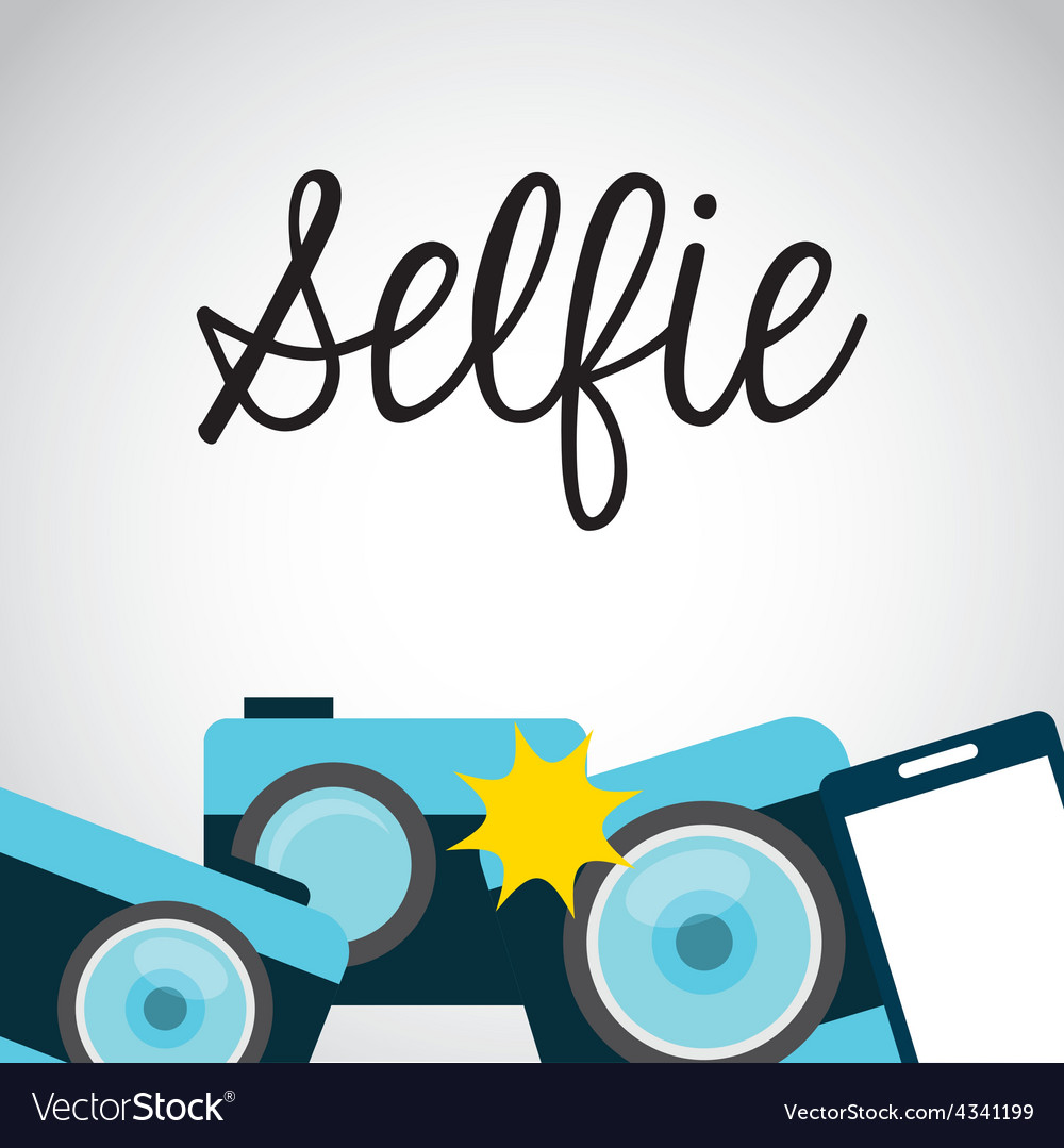 Photo selfie vector