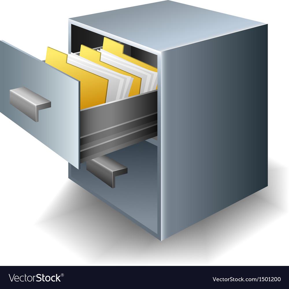 File cabinet vector