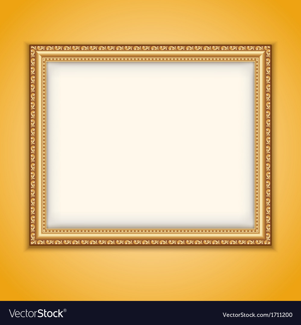 Frame gold vector