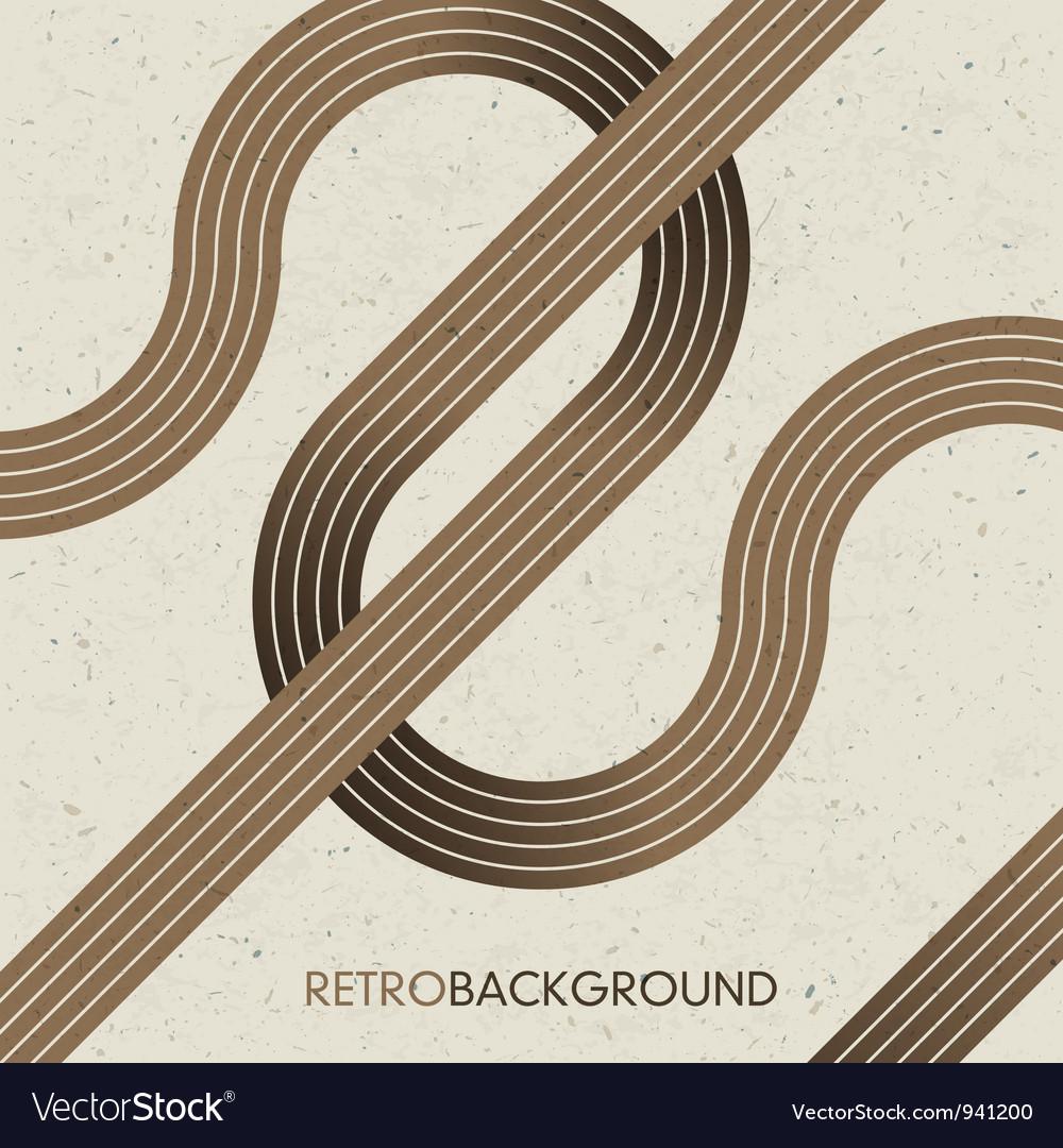 Intersection retro lines vector