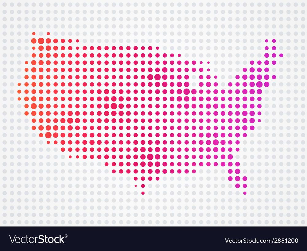 Usa dot map vector