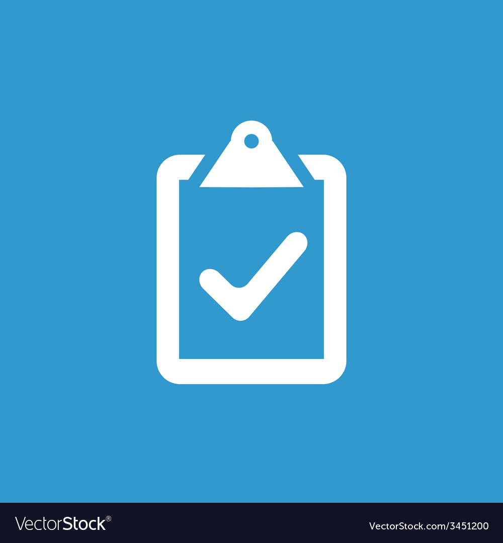 Vote icon white on the blue background vector