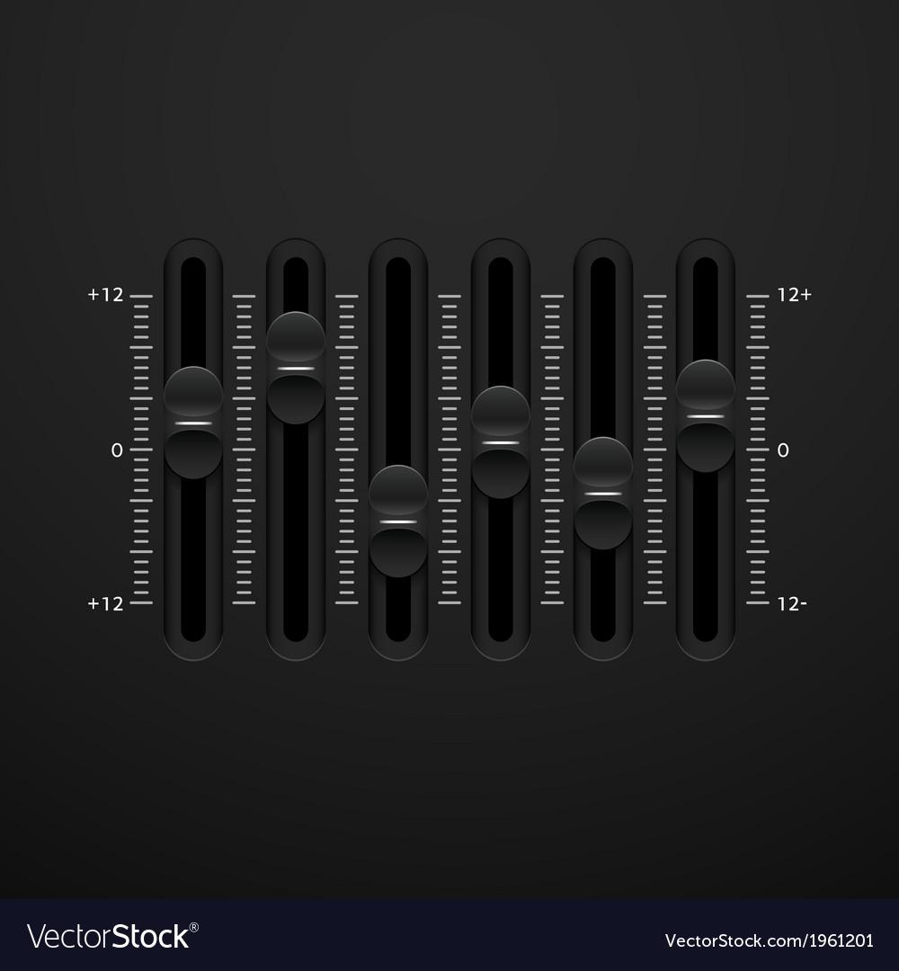 Sound mixer console panel vector