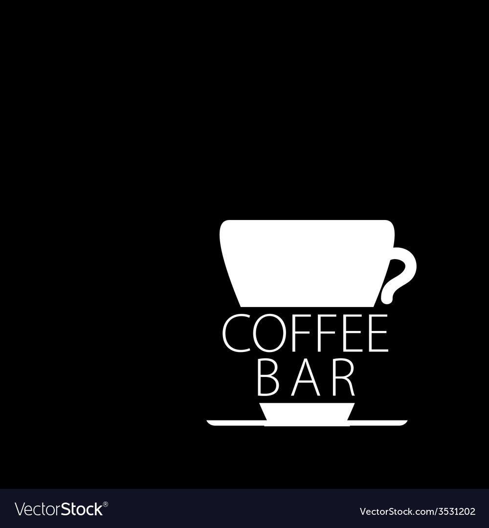 Coffee bar black and white vector