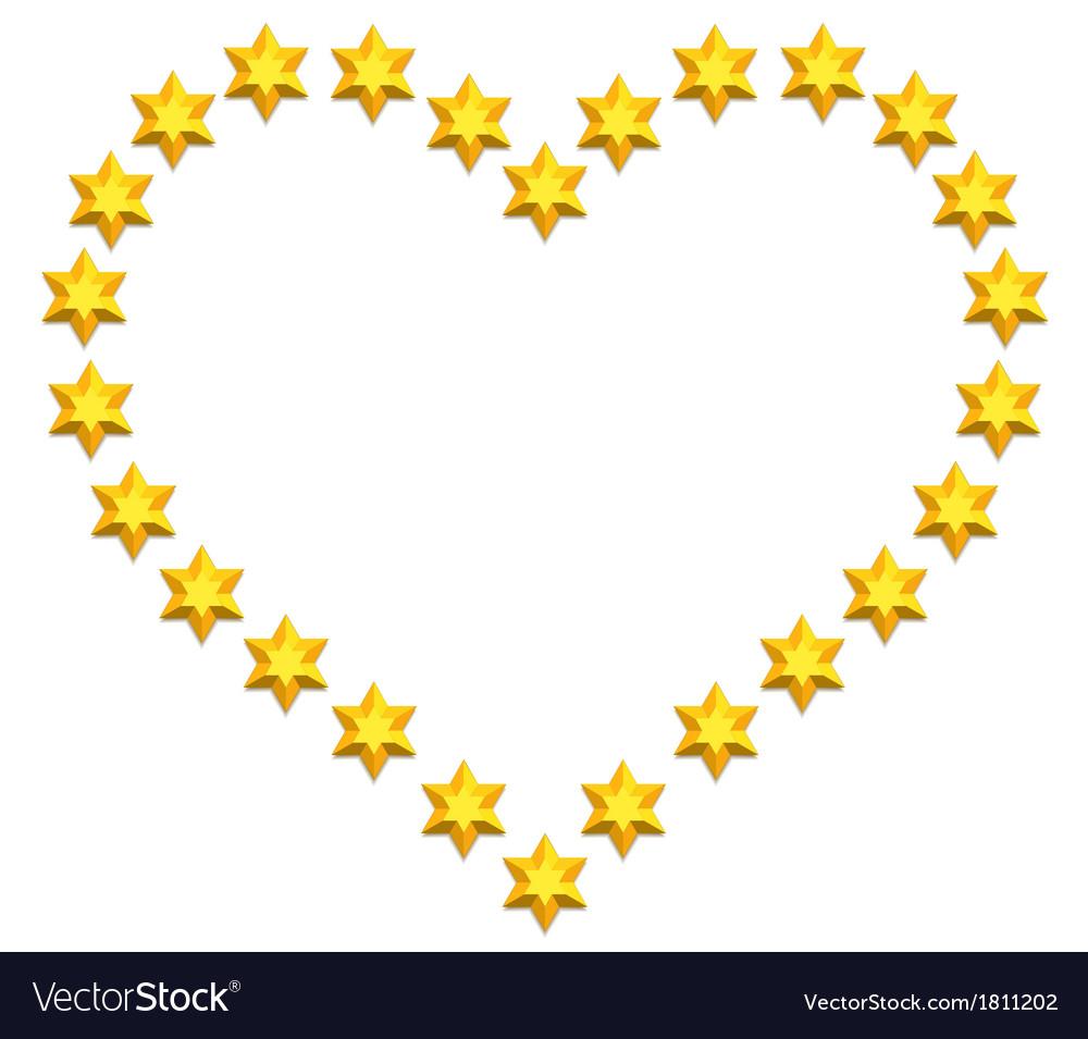 Stars heart vector