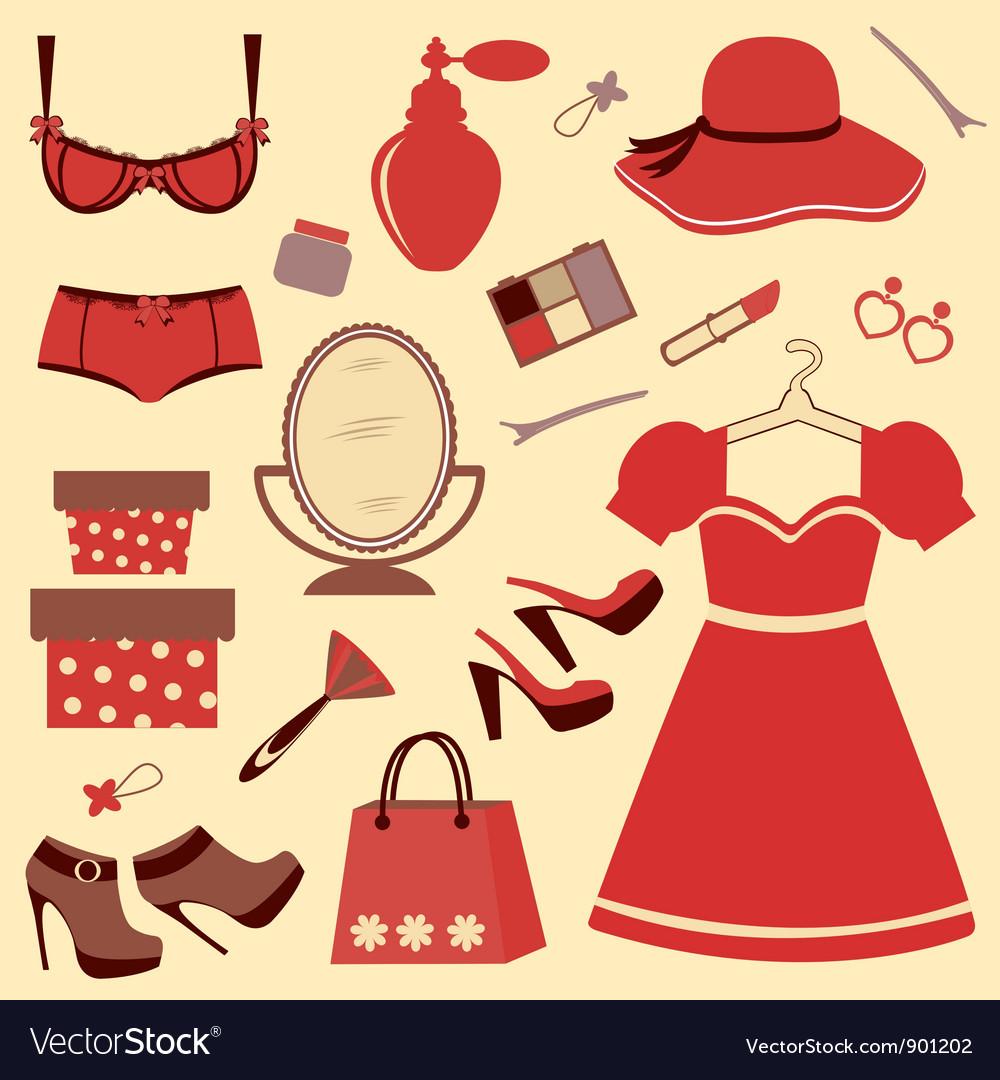 Women accessories vector