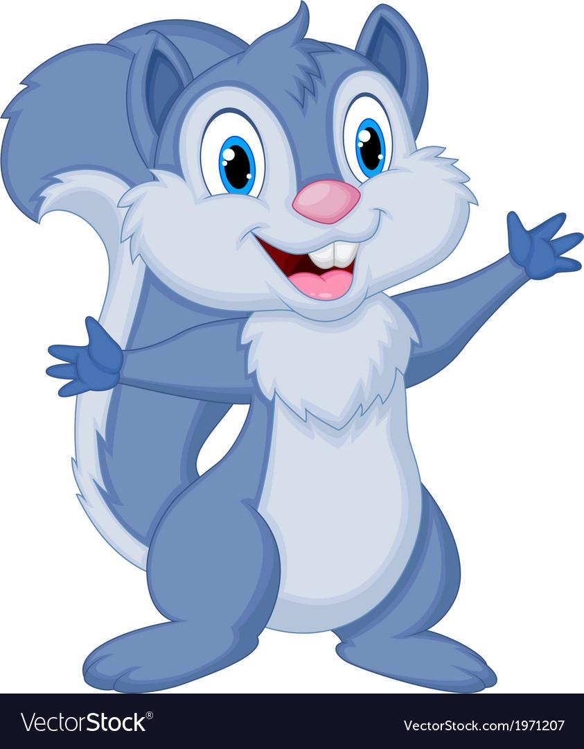 Cute squirrel cartoon posing vector